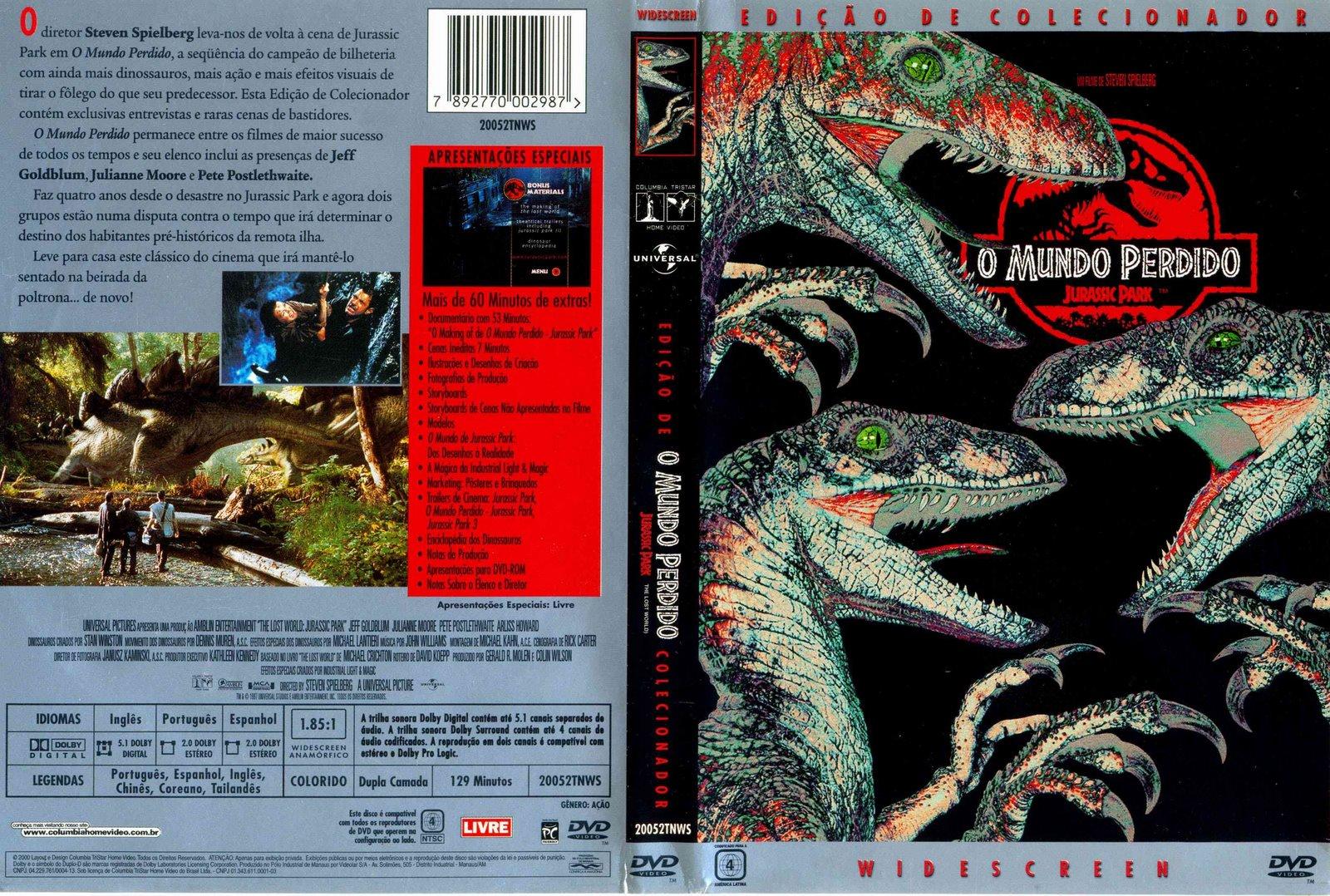 Torrent - Jurassic Park 2: O Mundo Perdido Blu-ray rip 720p e 1080p Dual Áudio 5.1 (1997)