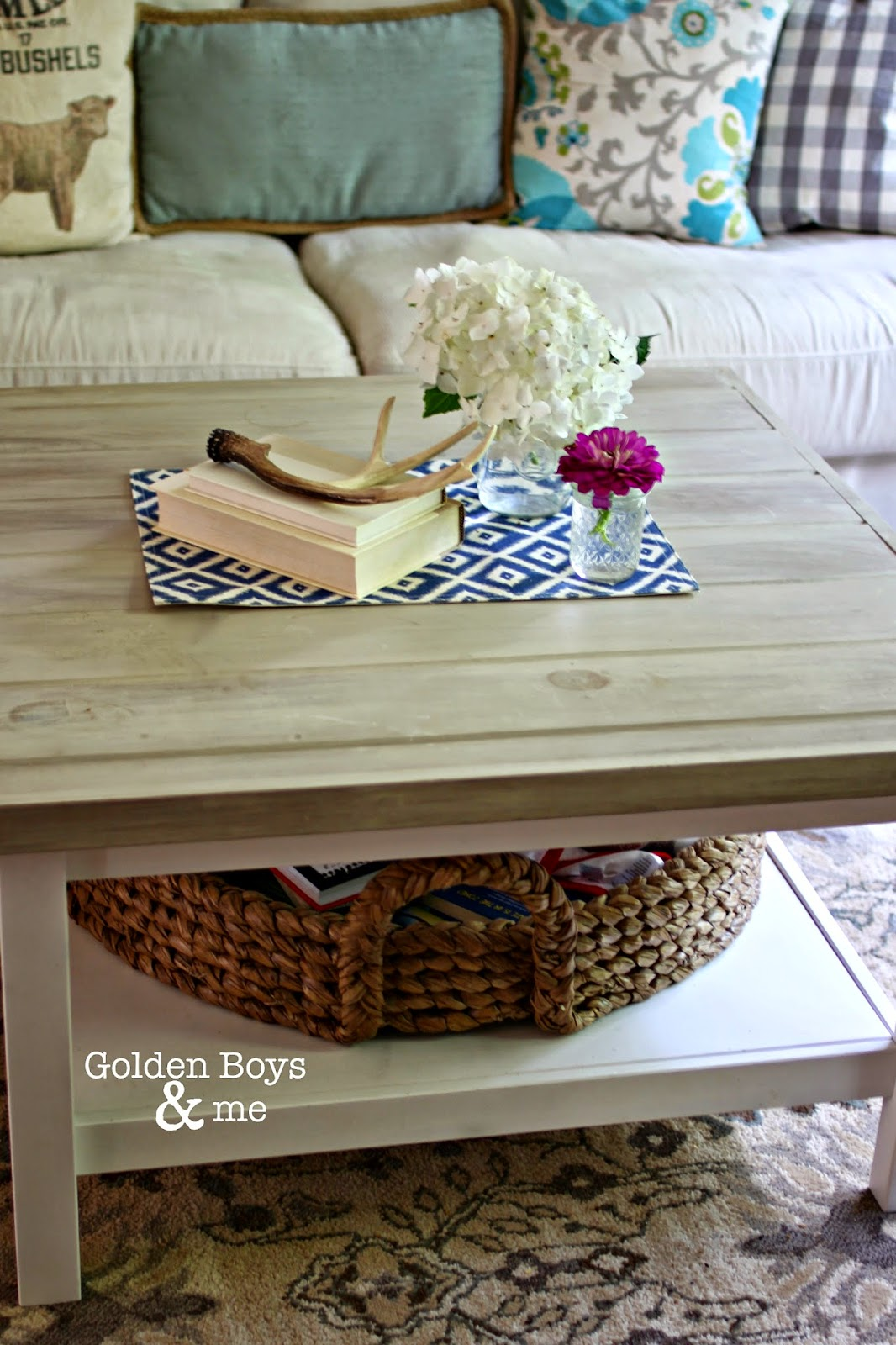 DIY Ikea hack coffee table-www.goldenboysandme.com