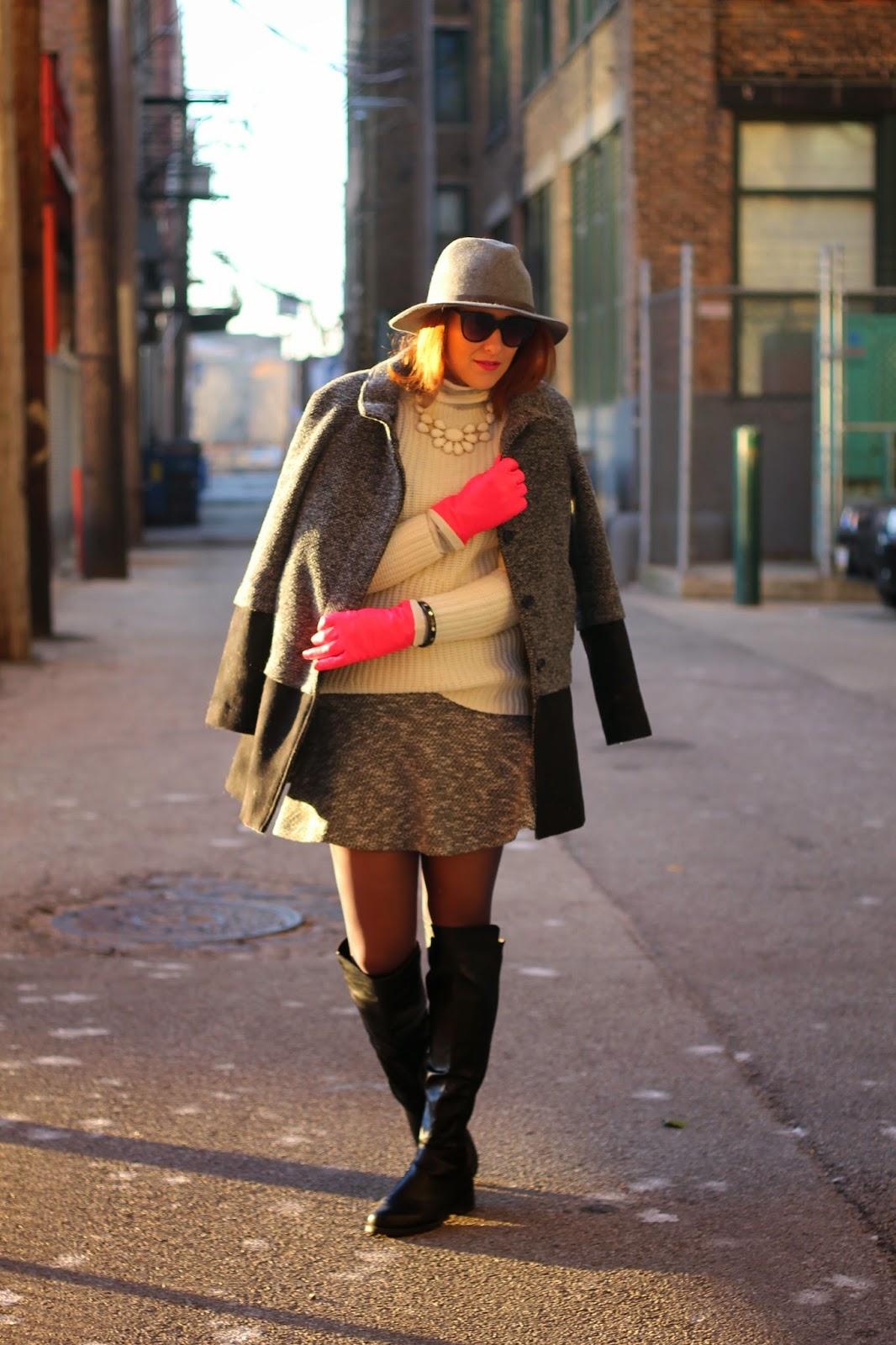 loft, flippy, skirt, sole, society, hat, pink, gloves