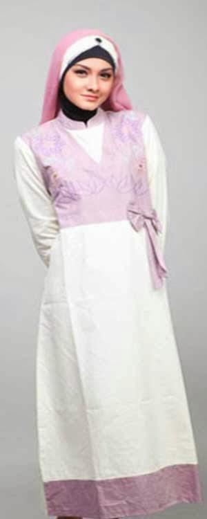 Model Baju Gamis Simple Modern 2014