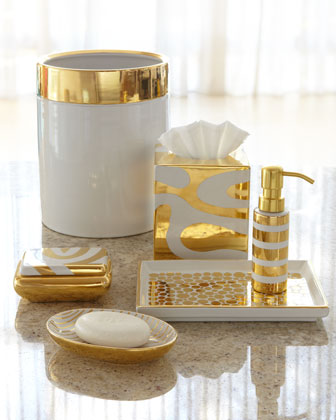 Twine how to update a 70 39 s bathroom for Gold bathroom decor