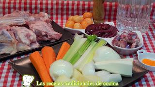 ingredientes Receta de sopa de menudillos