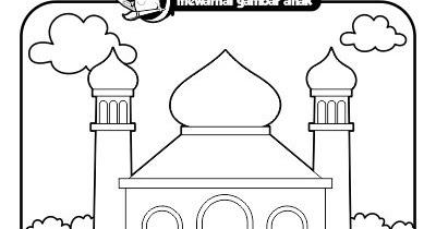 Mewarnai Gambar Anak Mewarnai Gambar Pergi Ke Masjid
