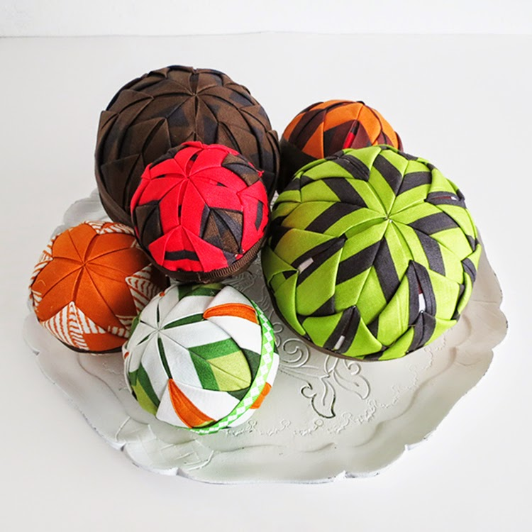 DIY fabric wrapped globes