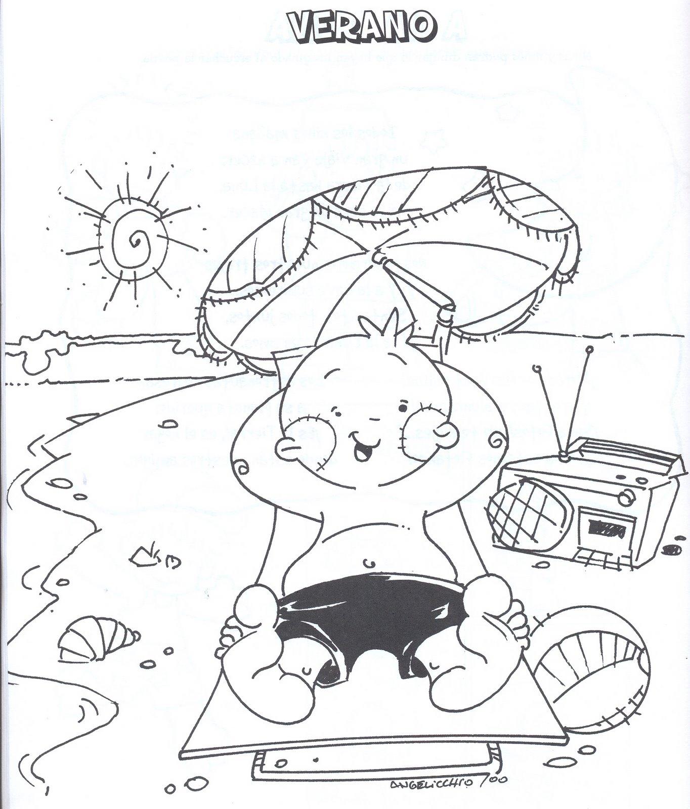Hermosa Páginas Para Colorear Para Que Los Niños Impriman 2 Imágenes ...