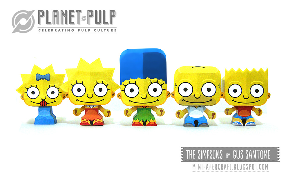 Mini Simpsons Paper Toys