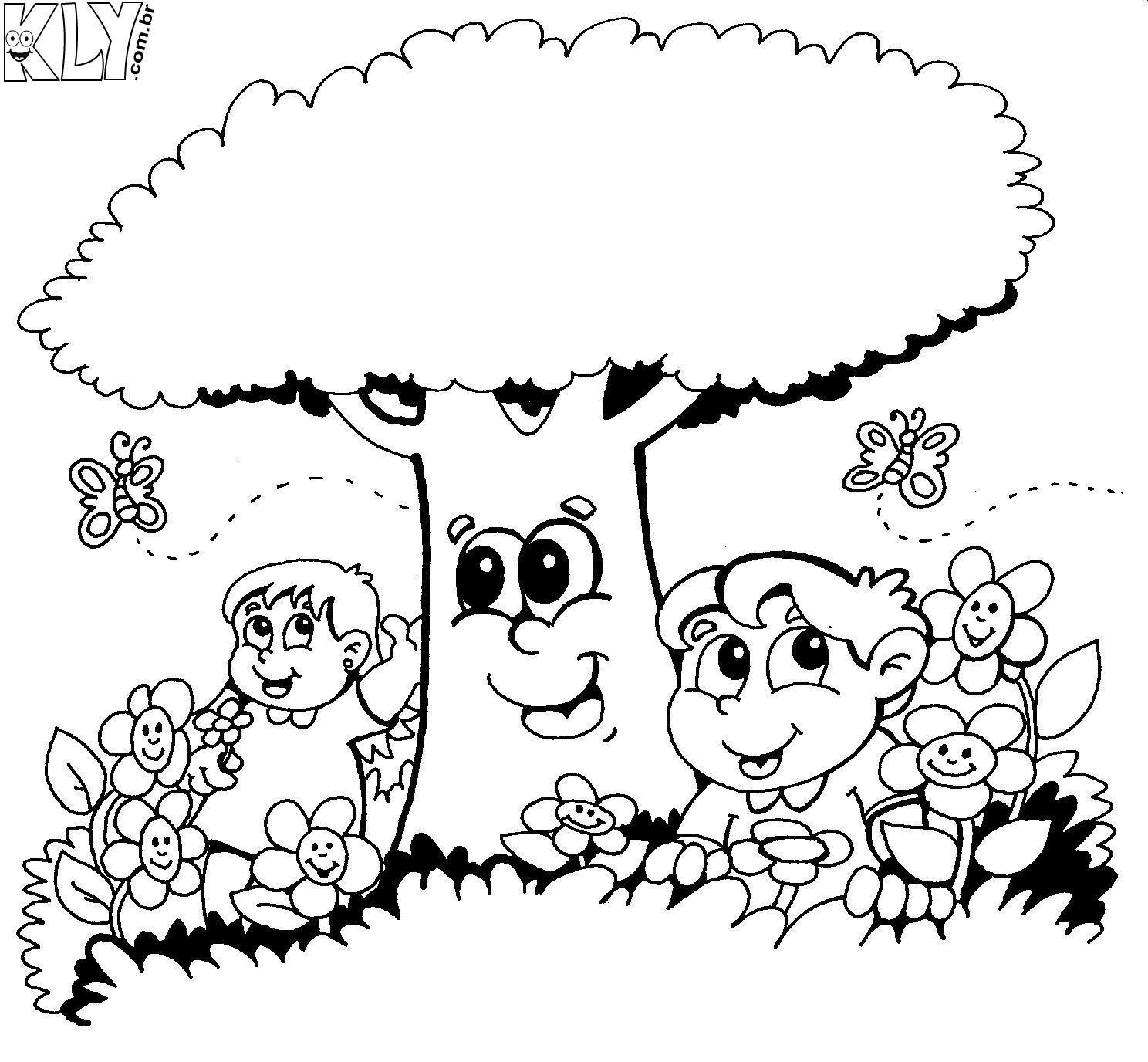 flores no jardim letra:Desenhos Para Colorir