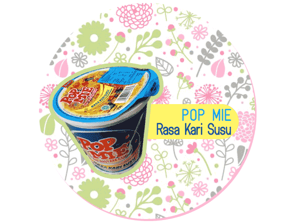 Pop Mie Rasa Kari Susu Baru.