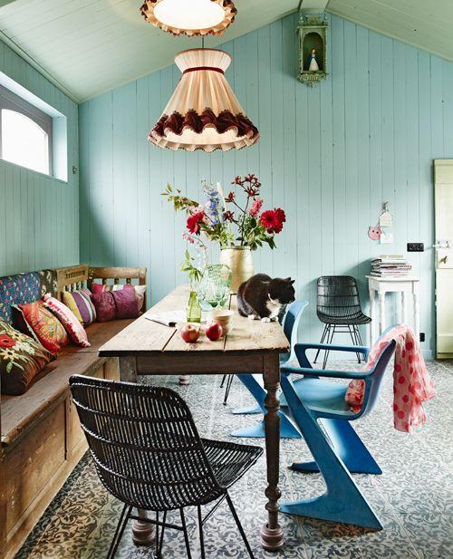 Ev dekorasyon hob bohem stili yemek odalar - Deco style boheme chic ...