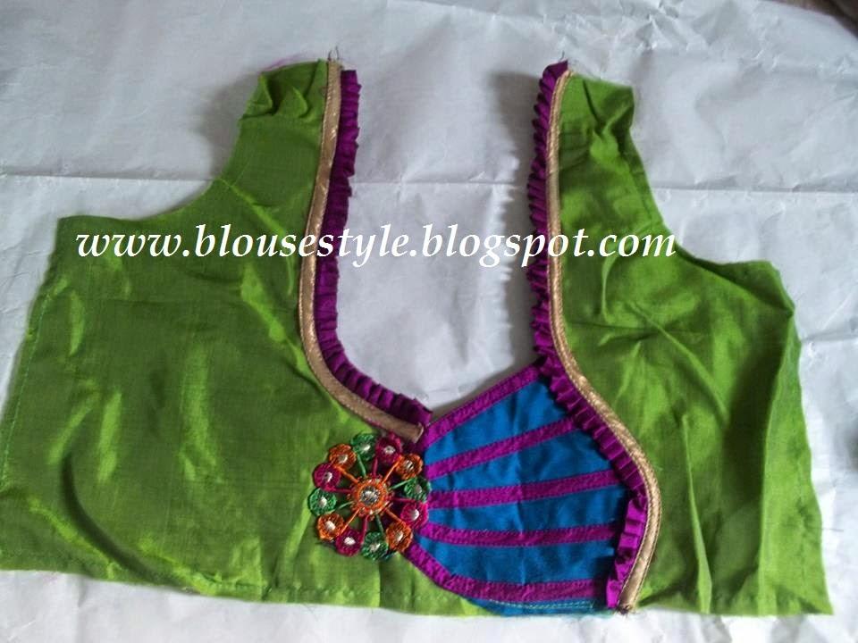 parrot green blouse