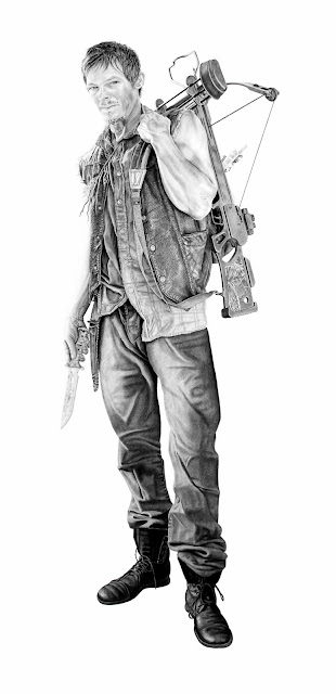 Daryl Dixon drawing by Joel Daniel Phillips
