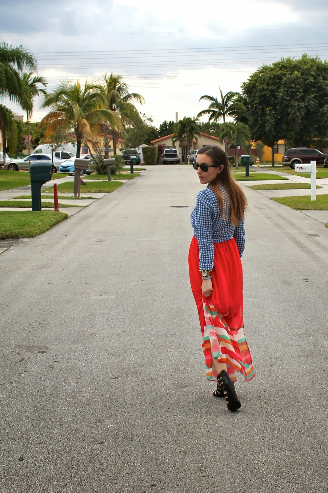 Abercrombie&Fitch, Miami blogger, fashion, style, ootd, BCBGeneration, plaid, Nordstrom, preppy, southern, Steve Madden, maxi dress