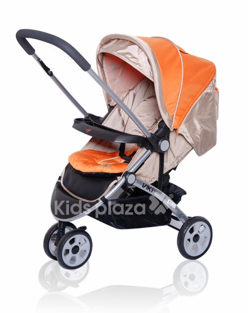 Xe đẩy Babylove BL308 màu cam