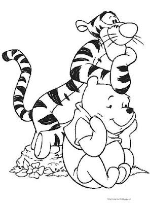 Tigro coloring page