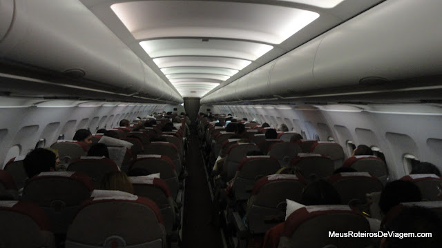 Interior do A320 da TAM