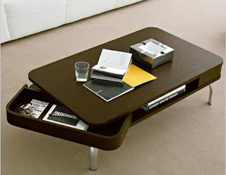 coffee table beraliran retro dengan storage