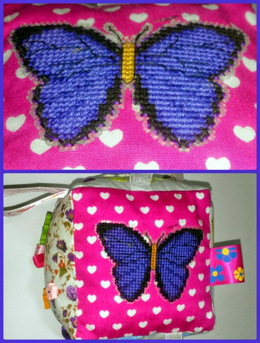 развивающий кубик, бабочка