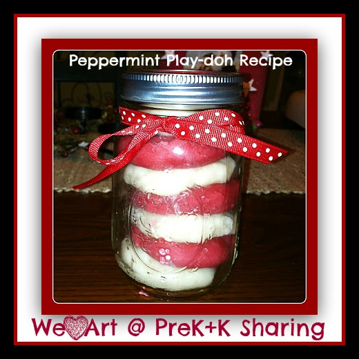 Peppermint Playdoh Recipe from We Heart Art @ PreK+K Sharing