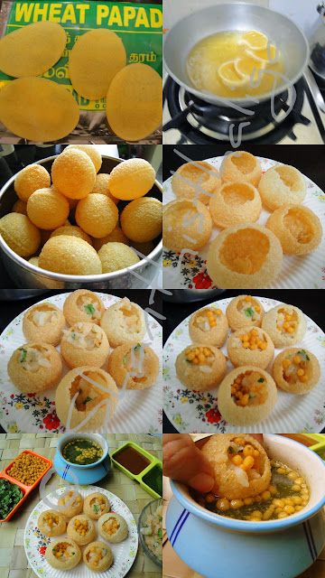 PANI PURI,GOLGAPPA,PANI POORI,HOW TO MAKE PANIPURI, HOW TO MAKE GOLGAPPA