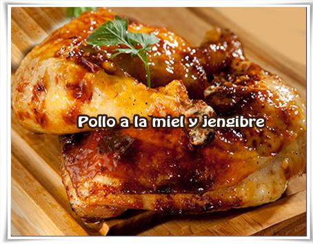 Recetas de pollo, pollo, miel, jengibre
