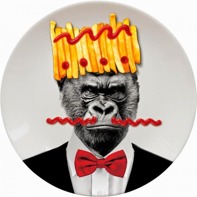 Plato Cerámica Gorila