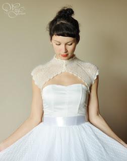 retro bridal bolero