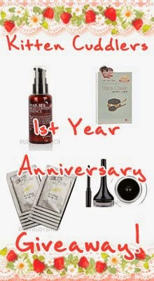 http://www.kittencuddler.com/2014/03/my-1-year-giveaway.html