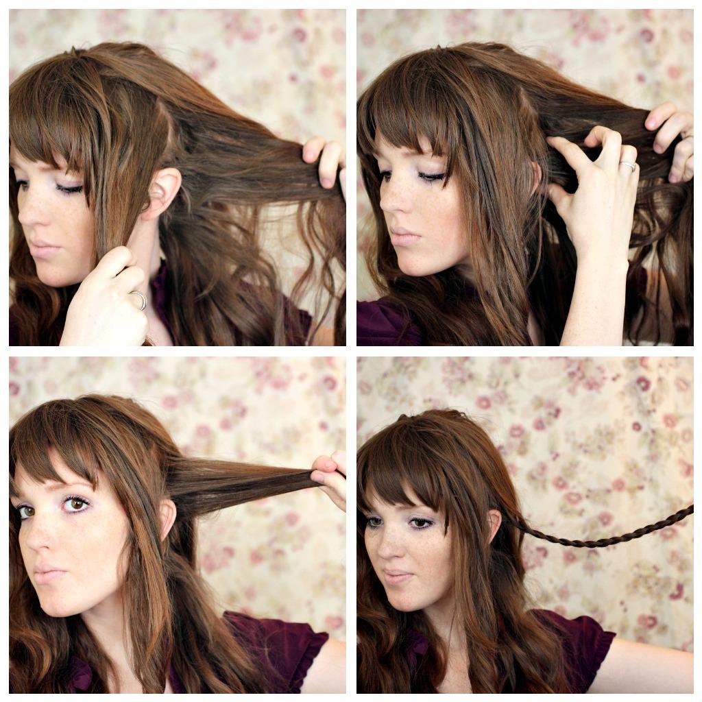 Причёски на длинные волосы с челкой на каждый день фото