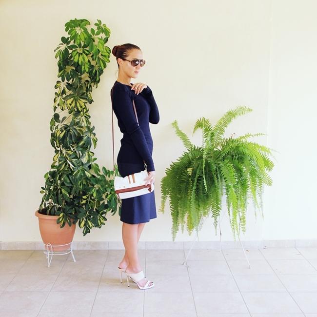 Jelena Zivanovic Instagram @lelazivanovic.Glam fab week.Sleek Navy outfit.Teget outfit.