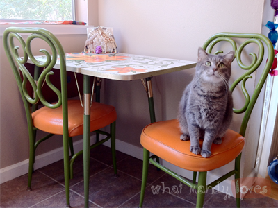 Finds & Treasures: Mod Dining Table & Chairs (August Kitchen Theme)