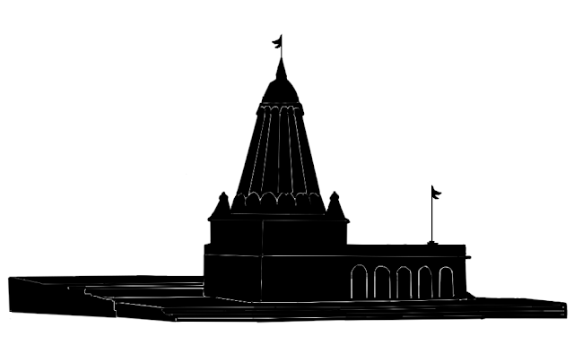 small temple silhouette