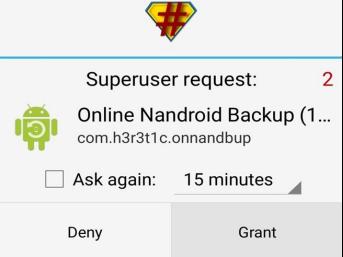 SuperUser Nandroid Backup