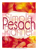 Simple Pesach Planner