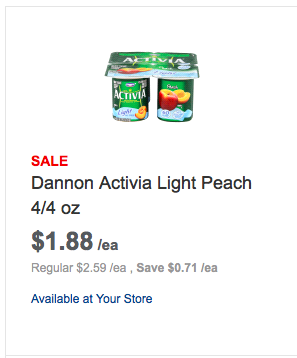 Dannon activia yogurt coupons printable