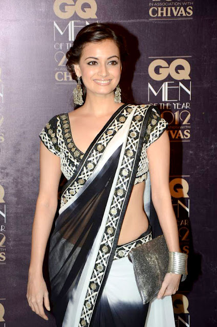 Diya Mirza in Cute Black Dress Photos