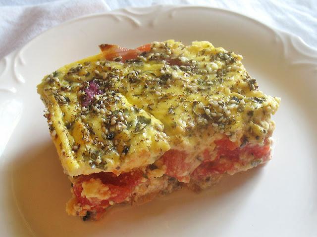 eggplant tomato quiche