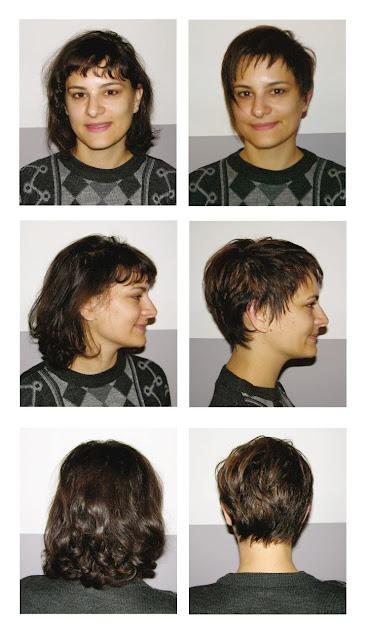 Adriana, avant et après sa visite au Studio 54, salon de coiffure à Montpellier.
