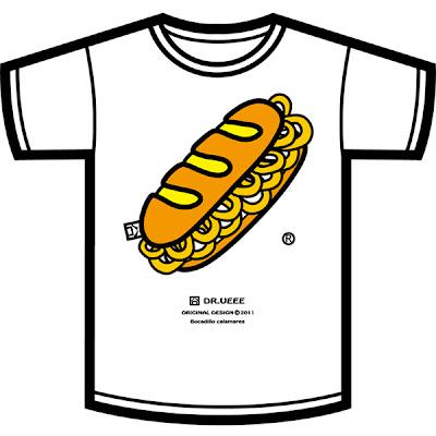 camiseta bocadillo de calamares