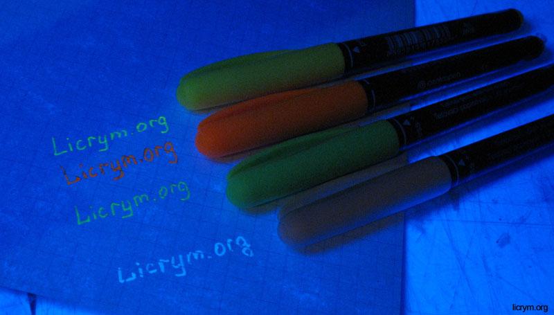 Как сделать чернила видимые только в ультрафиолете