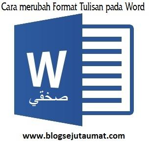 Cara Setting Microsoft Word Format Arab Pada Windows 8 dengan mudah