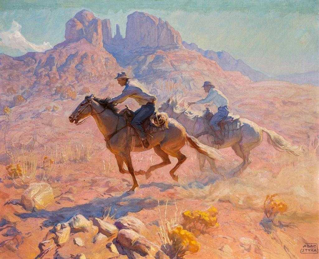 Adam Styka Riders Galloping
