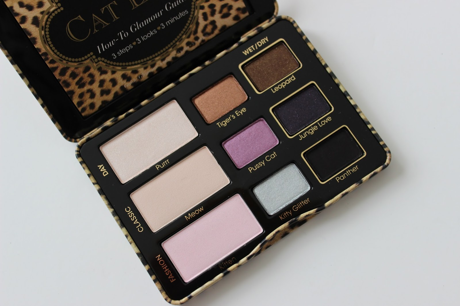Too Faced Cat Eyes shadow palette eye shadows