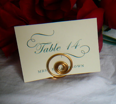 wedding table number holder