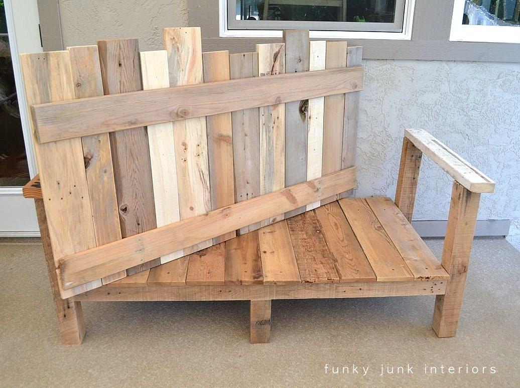 How I built the pallet wood sofa  part 2  via Funky Junk Interiors. How I built the pallet wood sofa  part 2 Funky Junk Interiors
