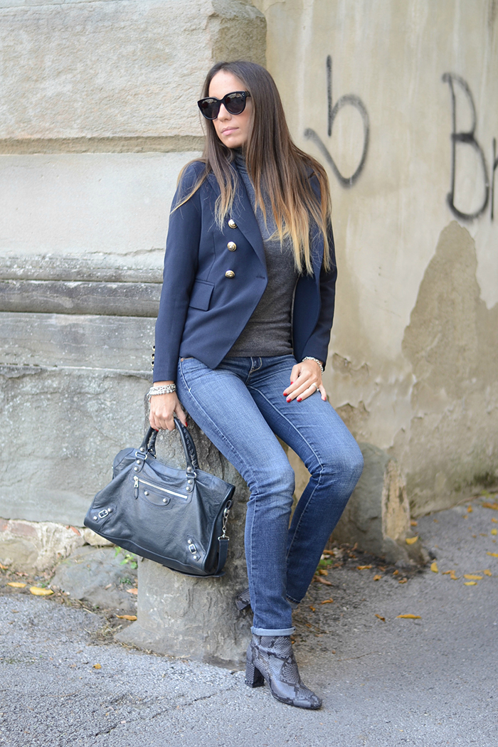 jeans stivaletti pitonati
