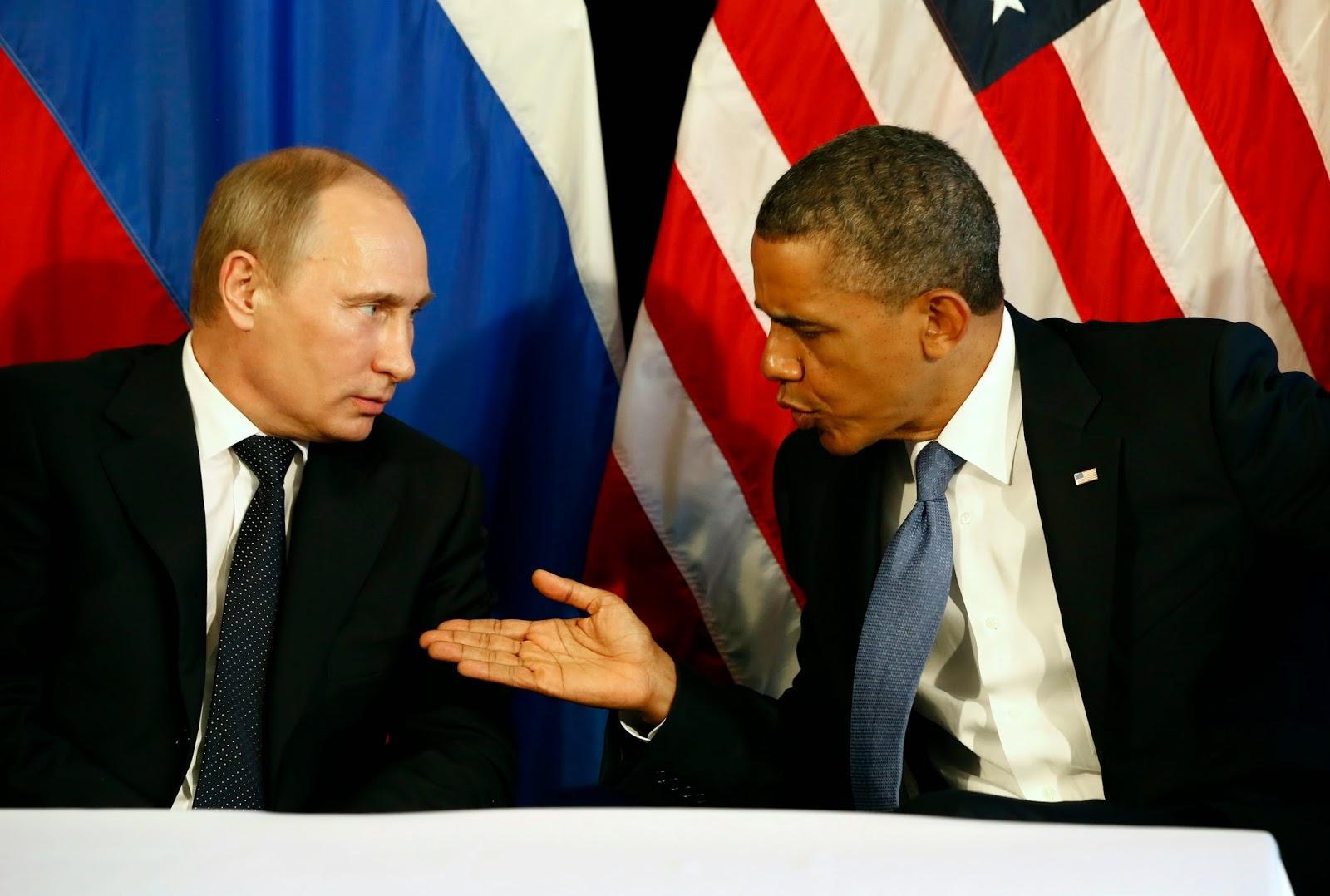 Putin e Obama pedem fim de conflitos na Ucrânia.