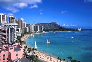 Barrio y playa de Waikiki