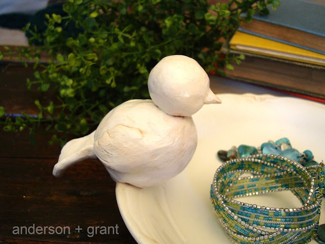 DIY Bird Bowl inspired by Pottery Barn | anderson + grant
