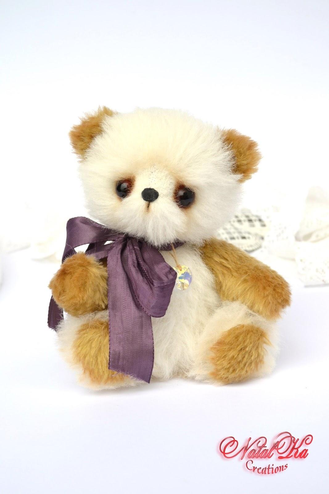 Авторский медведь тедди, мишка тедди из мохера от NatalKa Creations. Artist teddy bear, teddies, teddy bear, mohair, ooak, handmade by NatalKa Creations