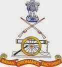 Indian Ordnance Factory Jabalpur Recruitment 2014